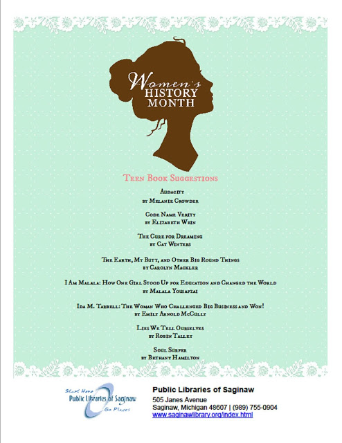 March Is Womens History Month Public Libraries Of Saginaw