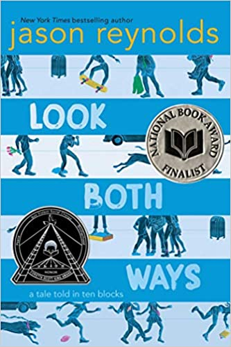 "Cover of the children's book ""Look Both Ways: A tale told in ten blocks"" by Jason Reynolds"