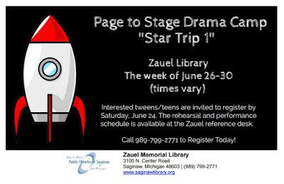 Image for Page to Stage Drama Camp at Zauel Memorial Library