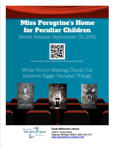 Image for Miss Peregrine's Home for Peculiar Children Movie Release This Month