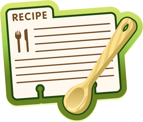 Recipe Card and Spoon